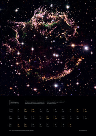 June 2007 - Cassiopeia A - The colourful aftermath of a violent stellar death
