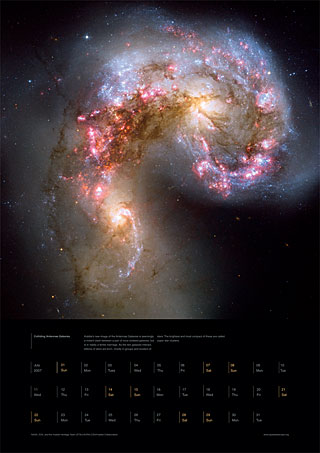 July 2007 - Colliding Antennae galaxies