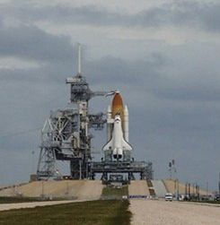 The Space Shuttle ready on the launch pad. Photo: NASA