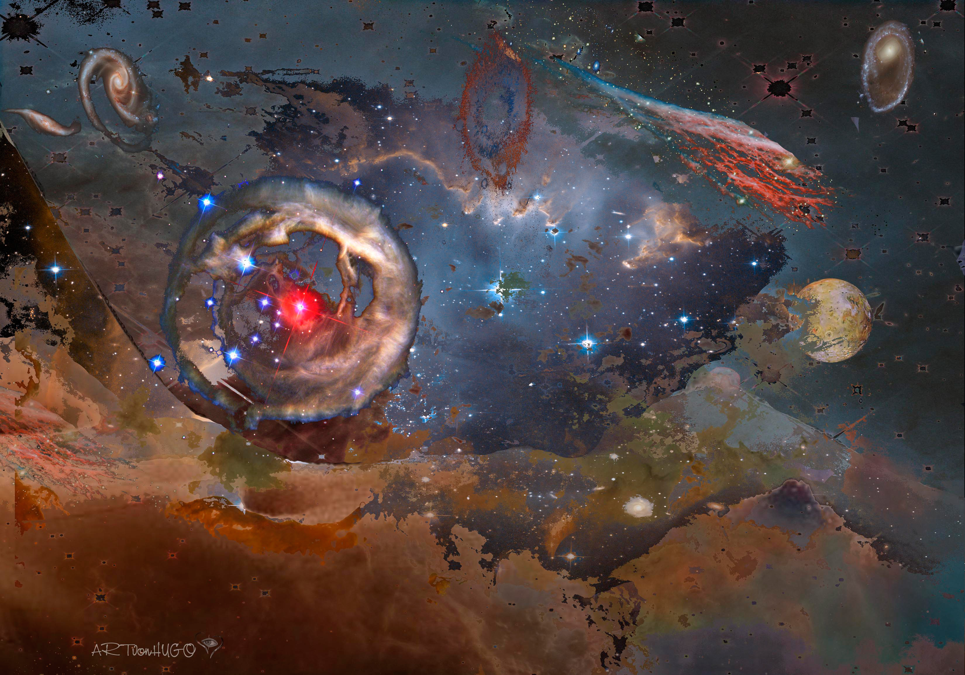 Abstracted Art Works 05 Esa Hubble