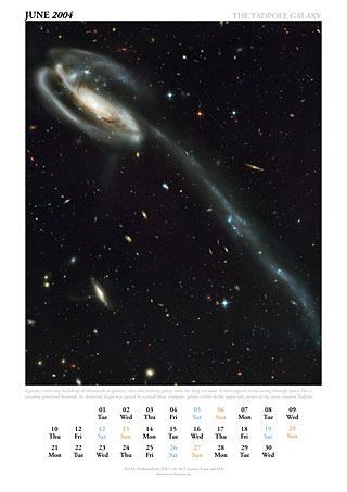 June 2004 - The Tadpole galaxy