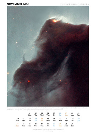 November 2004 - The Horsehead nebula