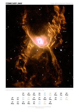 February 2005 - The red Spider nebula