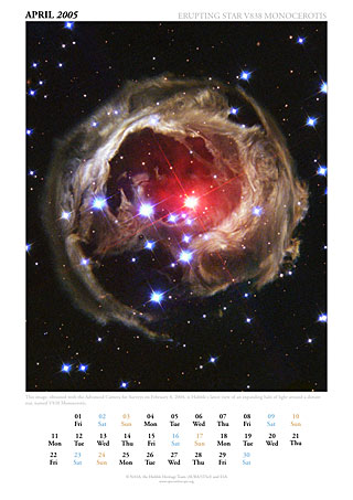 April 2005 - Erupting star V838 Monocerotis