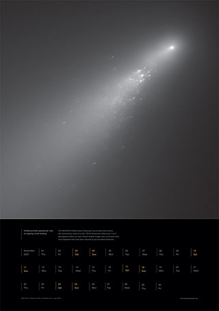 November 2007 - Hubble provides spectacular view of ongoing comet breakup