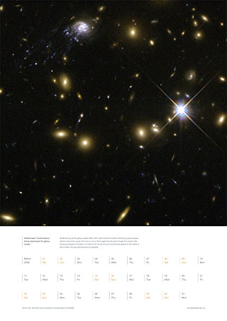 "March 2008 - Hubble sees ""Comet Galaxy"" being ripped apart by galaxy cluster"