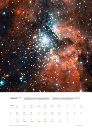 November 2008 - Extreme star cluster bursts into life in new Hubble image