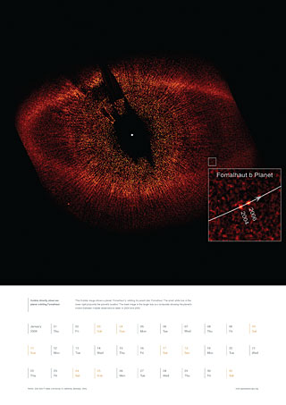 January 2009 - Hubble directly observes planet orbiting Fomalhaut