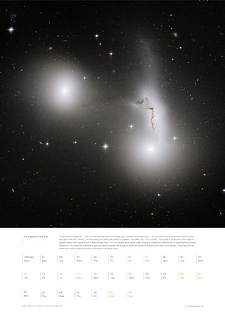 February 2010 - Trio of galaxies mixes it up