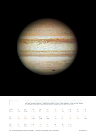 June 2010 - Hubble view of Jupiter