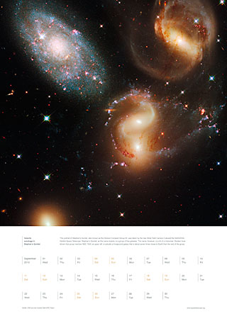 September 2010 - Galactic wreckage in Stephan's Quintet