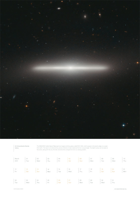 March 2011 – An Extraordinarily Slender Galaxy