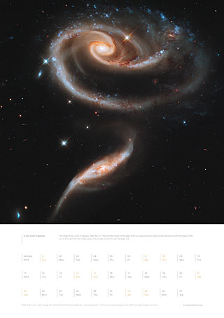 January 2012 – A rose made of galaxies
