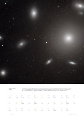 August 2012 - Galaxies in a swarm of clusters