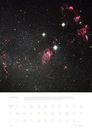 December 2012 - A galaxy blowing bubbles