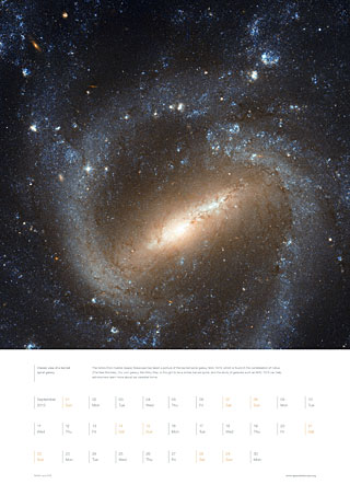 September 2013 - Classic view of a barred  spiral galaxy