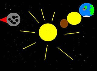 The Sun and the three first planets