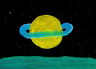 Planet Saturn from Encelade