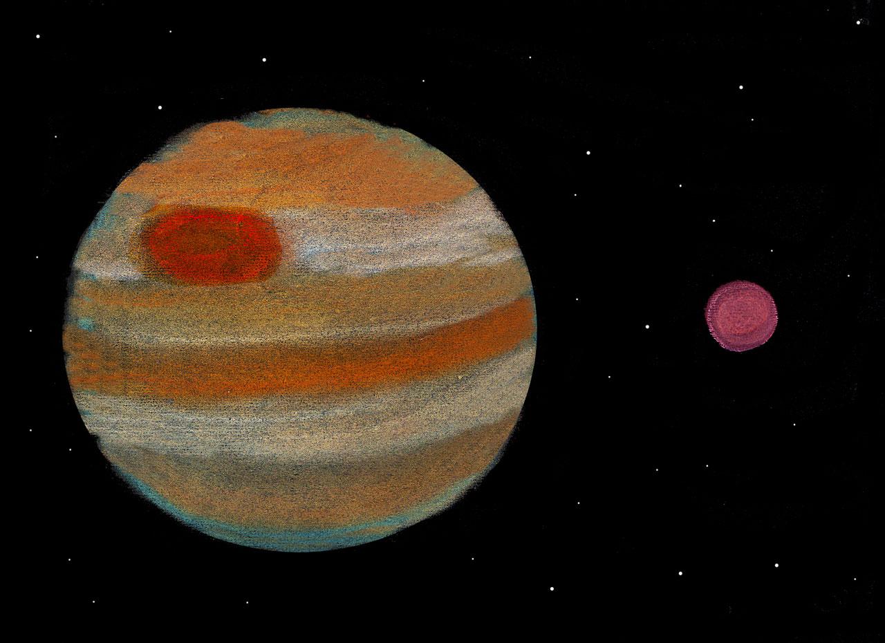 planet jupiter drawing - photo #44