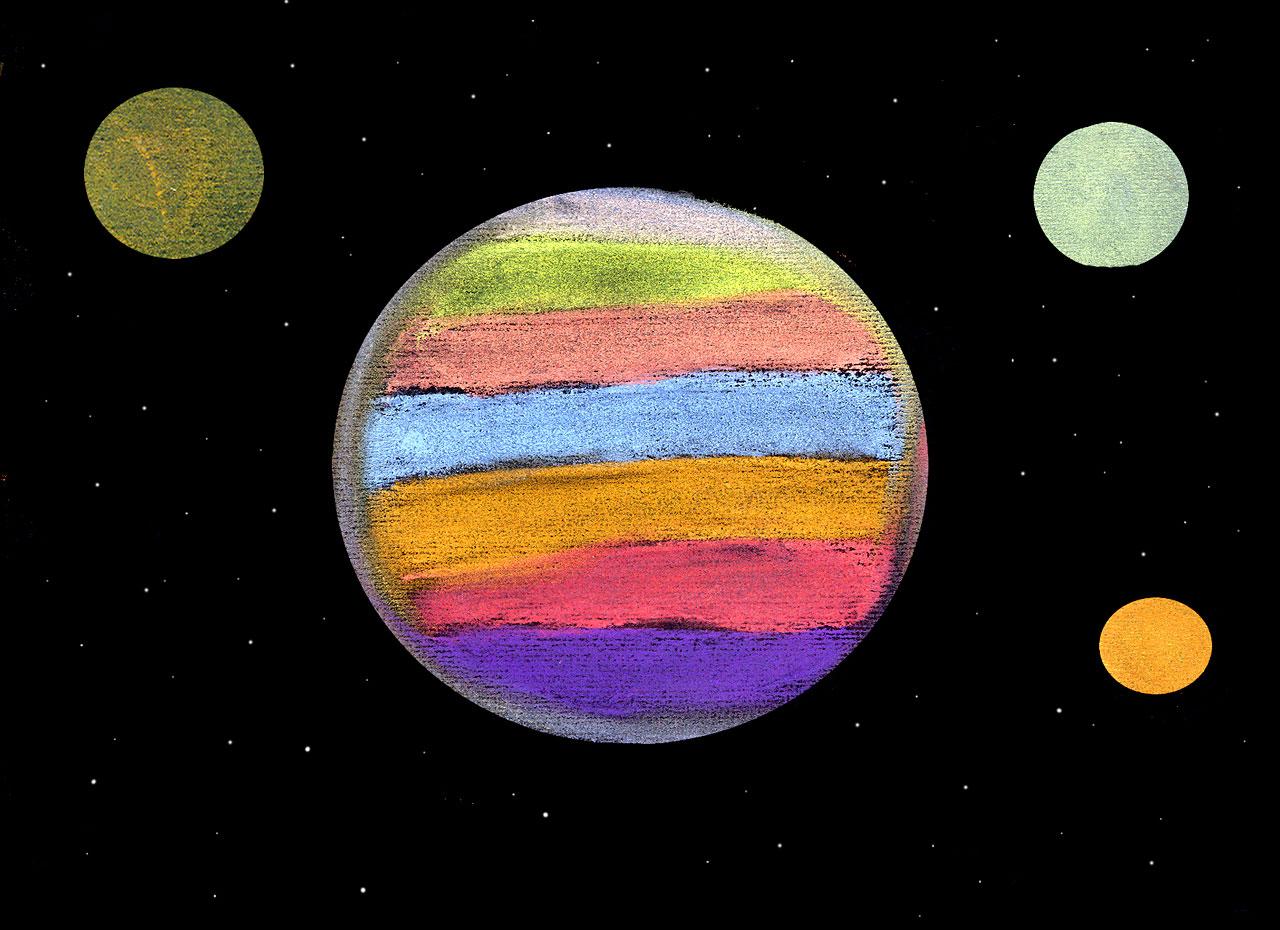 planet jupiter drawing - photo #17