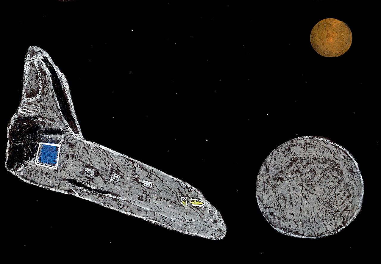 last space shuttle moon - photo #27