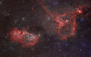 IC 1805 and 1848