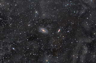 M81 and M82 bathed in Integrated Flux Nebula