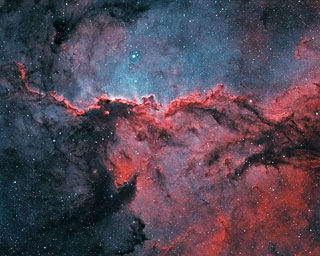 Bicolour image of the NGC 6188