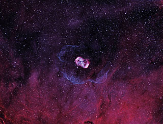 Bicolour image of the NGC 6164-5