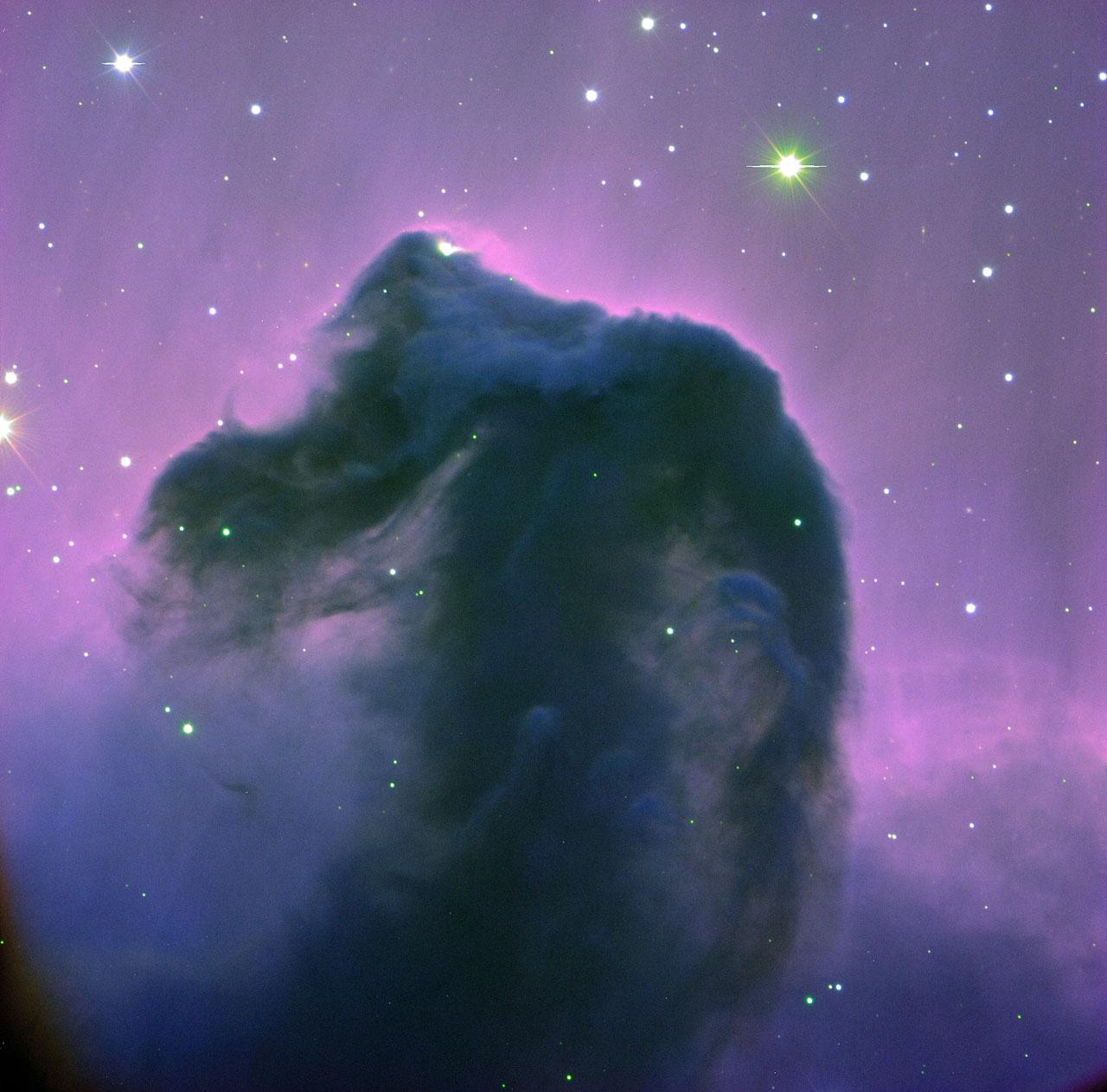 Blue green nebula