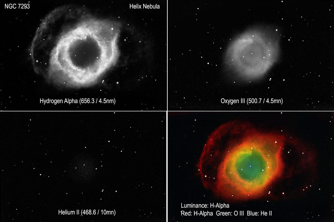 Helix Nebula Narrowband Map Color Esa Hubble