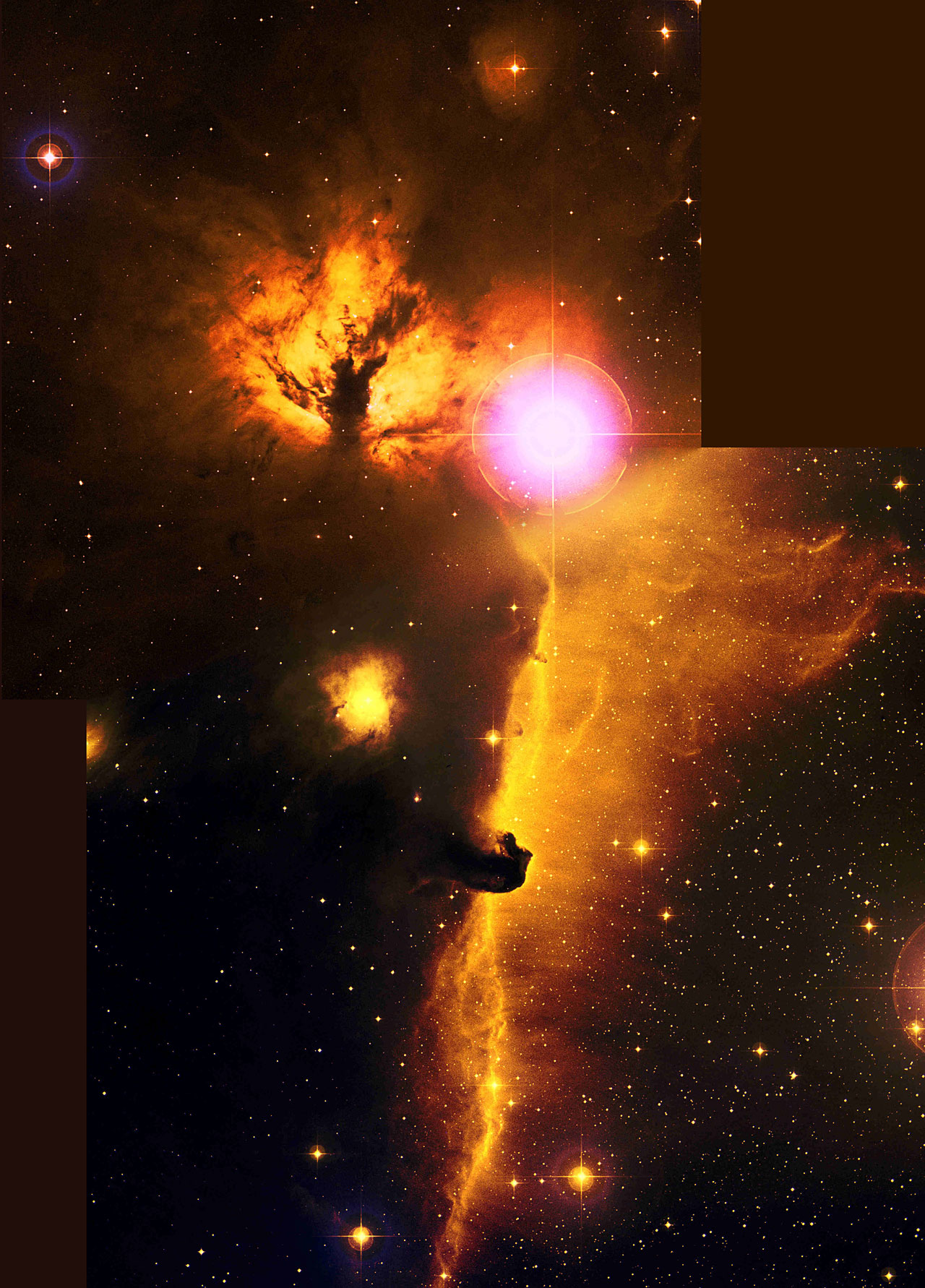 flame horse nebula ngc2024  ic434