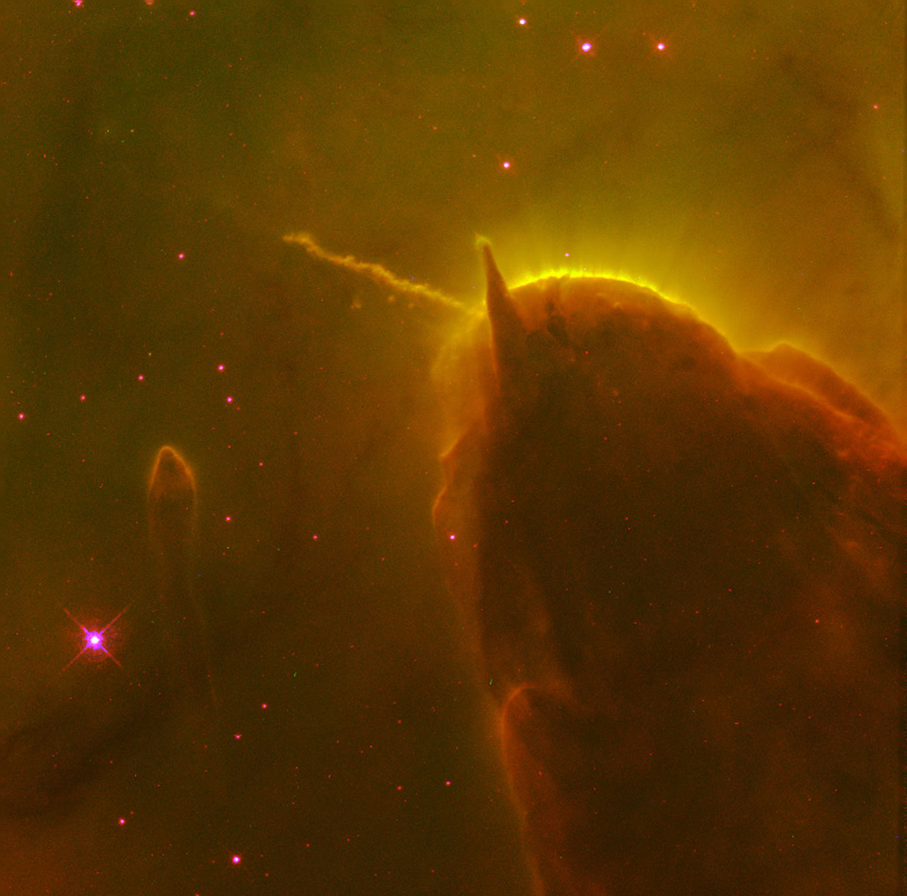 Astronomers capture dazzling rainbow nebula swirling