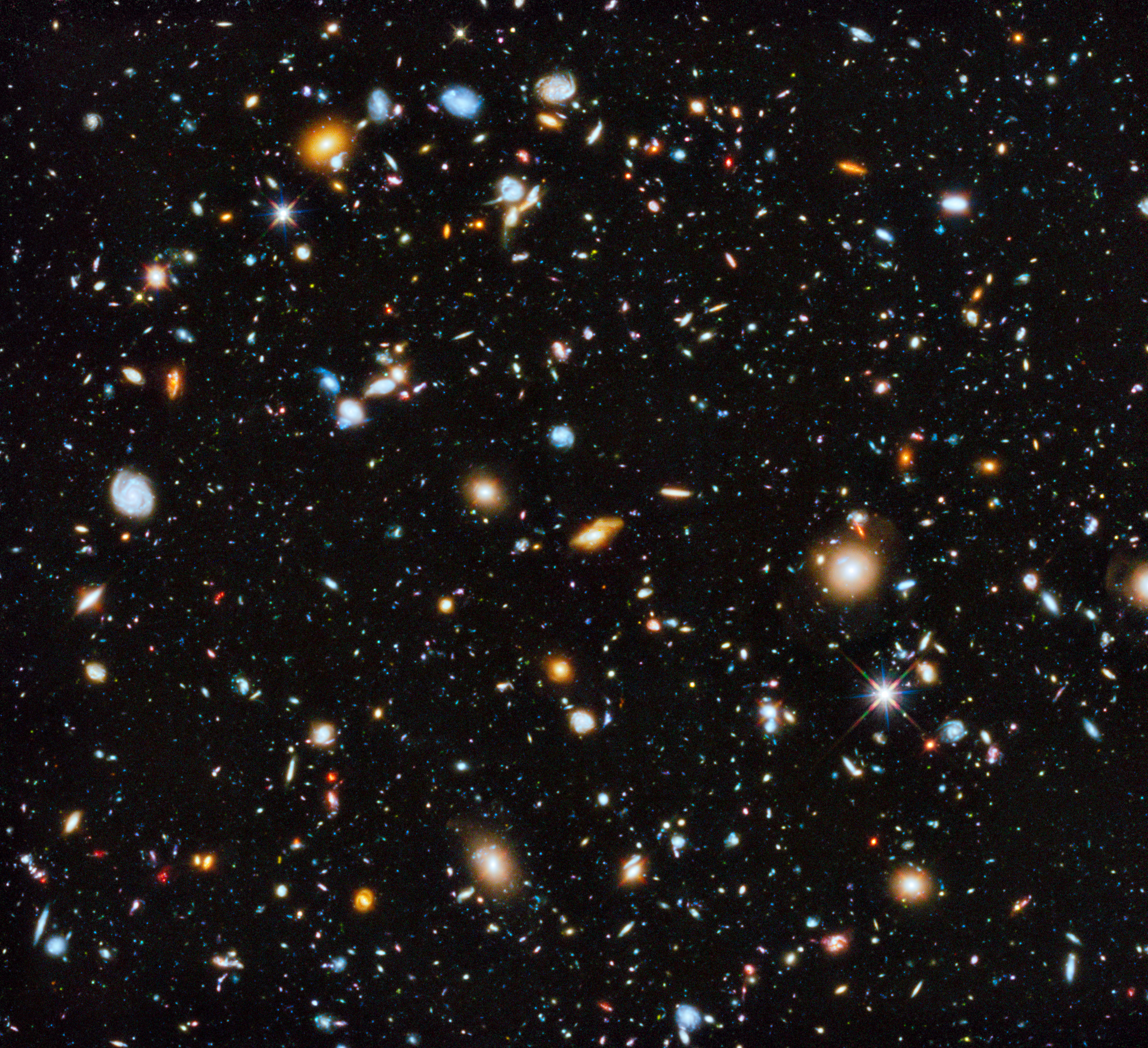 Hubble UV deep field: New image shows galaxies galore.