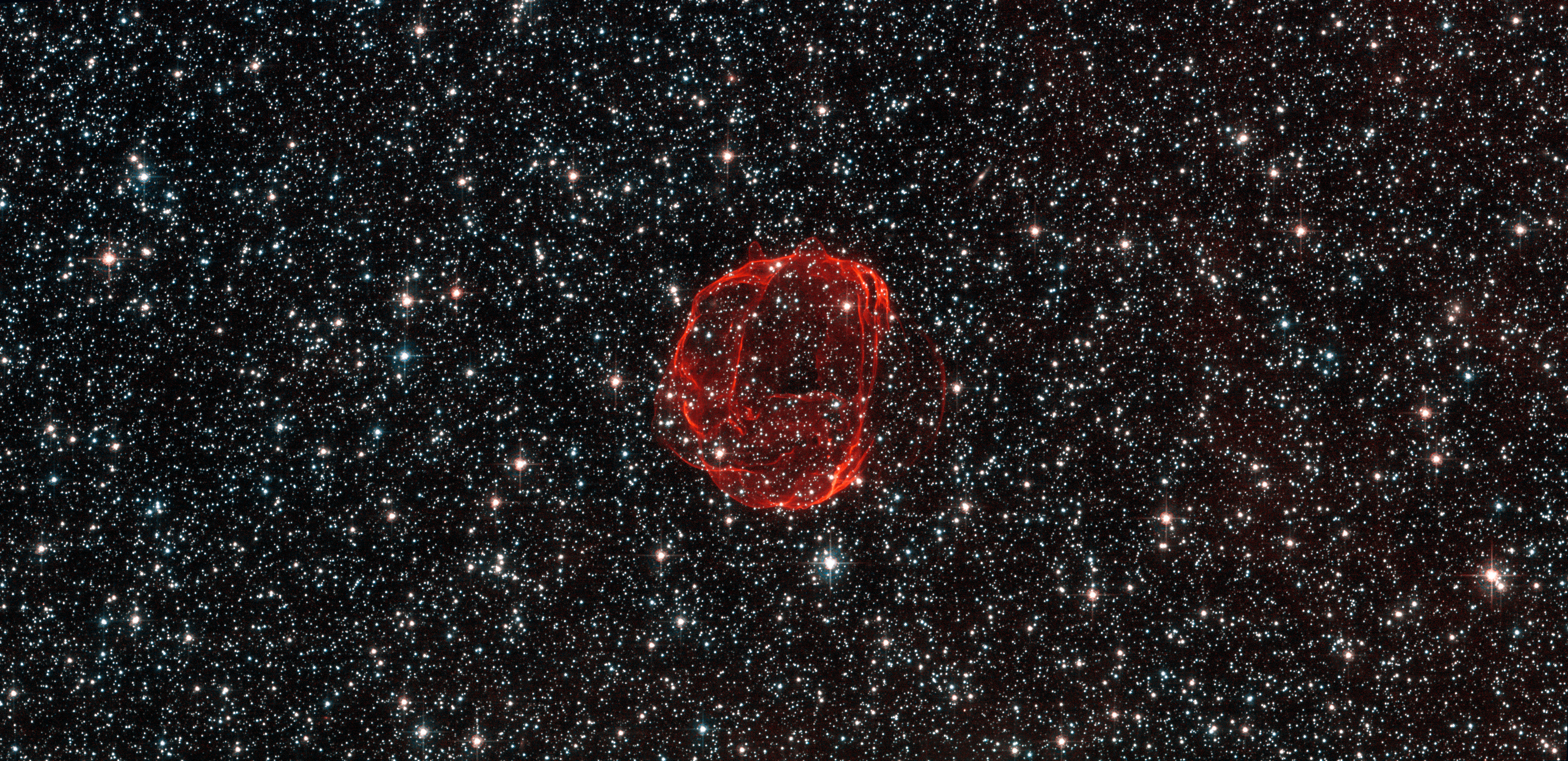 Supernova remnant: The wispy remains of an exploded white ...
