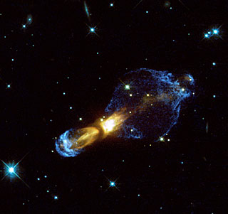Hubble reveals previously unseen shocks