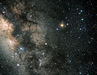 Constellation Scorpius (ground-based image) | ESA/Hubble