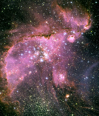 Young stars sculpt gas with powerful outflows