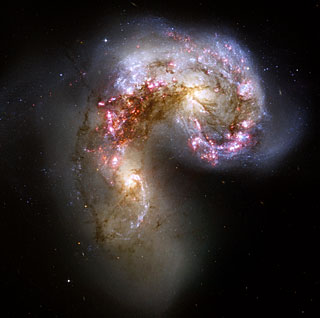 Colliding galaxies make love, not war