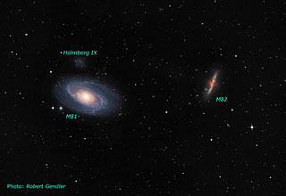 Ground-based image of the M81/M82 Galaxy Group