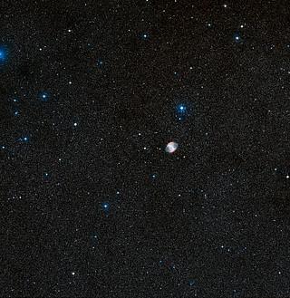 Grande campo de visão de HD 189733b e arredores (DSS2 trecho, terrestres imagem)