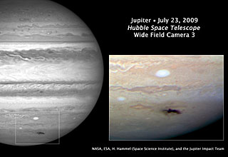 Hubble views new dark spot on Jupiter