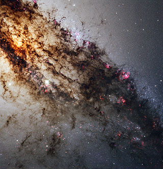 Spectacular Hubble view of Centaurus A