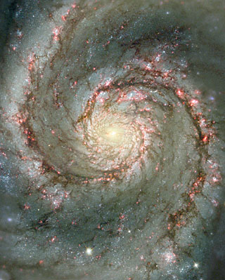 The Heart of the Whirlpool Galaxy
