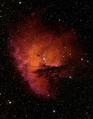 Baseados em terra Imagem da região de formação estelar NGC 281