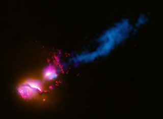 """Death star"" galaxy black hole fires at neighboring galaxy"