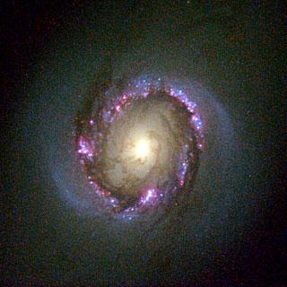 Galaxy NGC 4314 (Hubble View)