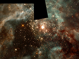 A Grand View of the Birth of 'Hefty' Stars - 30 Doradus Nebula Montage