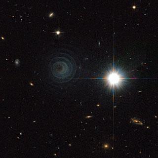 Uma espiral Extraordinária Celestial