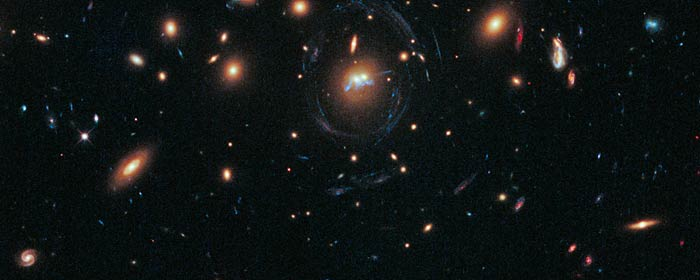 This new NASA/ESA Hubble Space Telescope image shows two galaxies from the cluster SDSS J1531+3414.